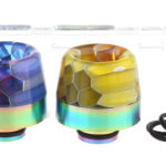 VapeSMOD Stainless Steel + Glass Hybrid 510 Drip Tip (2 Pieces)