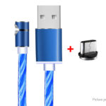 USB-C to USB 2.0 Magnetic Flowing Light Up Charging Cable (100cm)