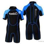 SLINX 1302 Kids' One-Piece Wetsuit Short Sleeve Diving Snorkeling Swimwear (Size M)