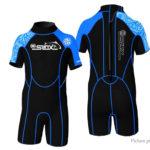 SLINX 1302 Kids' One-Piece Wetsuit Short Sleeve Diving Snorkeling Swimwear (Size M)