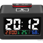 Multifunctional USB / Battery Powered Digital Alarm Clock Thermometer Hygrometer