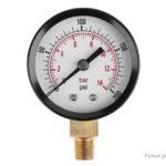 TS-Z52 1/8″ NPT Side Mount 0-200psi 0-14bar Pressure Gauge Manometer