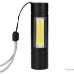 Portable Mini LED Flashlight Work Light w/ Focus Zoom