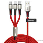 Authentic Baseus 3-in-1 8-pin/Micro-USB/USB-C to USB 2.0 Charging Cable (120cm)