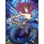 5D DIY Special Shaped Diamond Painting Fish Tail Cross Stitch Craft Kits