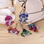 5pcs DIY Animals Full Drill Special Shaped Diamond Painting Keychain Gifts