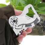 Multi-functional Camping Folding Stainless Steel Wallet Credit Card Knife