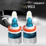 2pcs Mi2 H8/H9/H11 LED Car Headlight Bulbs 50W 6000lm 6500k 12V Headlamp