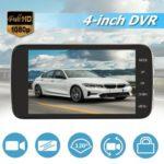 SE001 1080p Car DVR Dual Lens 4 inch Screen Night Vision Dashboard Camera