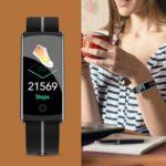 F10C Smart Bracelet IP68 Waterproof Heart Rate Blood Pressure Band (Grey)
