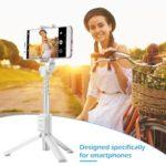 Huawei Honor AF15 Folding Bluetooth Selfie Stick Extendable Tripod (White)