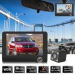 L431 3 Lens Car DVR Camera Night Vision Dash Cam Recorder Russian Version