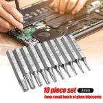 10pcs CR-V Torx Bits Set T3 T4 T5 T6 T7 T8 T9 T10 T15 T20 Mobile Repair Bit