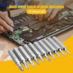 10pcs CR-V Torx Bits Set Phillips Slotted Torx Bit Mobile Phone Repair Tool