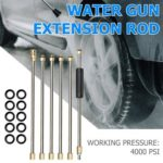 6pcs 15 inch Pressure Washer Extension Wand Set 1/4 Quick Connect Lance