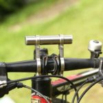 MTB Bicycle Multi-Functional Extension Frame Front Lamp Holder (Silver)
