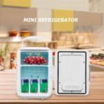 4L Refrigerators Low Noise Freezer Cool Heating Fridge (US Car Plug White)