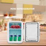 4L Refrigerators Low Noise Freezer Cool Heating Fridge (US Car Plug White)