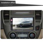 7023B Double DIN Bluetooth Car Stereo USB Radio In Dash Head Unit (w/ Cam)