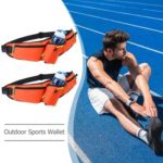 Sports Bottle Hip Waist Pack Waterproof Running Climbing Waist Bag (Orange)