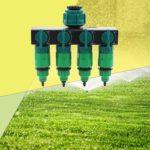 Garden Drip Irrigation 4 Way 4/7 8/11 Hose Pipe Splitter (Thread Connector)
