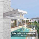 49LED Solar Infrared Motion Sensor Wall Light Outdoor Garden Security Lamp