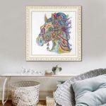 5D DIY Special Shaped Diamond Painting Horse Cross Stitch Mosaic Craft Kits