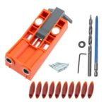Woodworking Pocket Hole Jig Kit Drill Guide Puncher Locator w/2 Magnets (C)