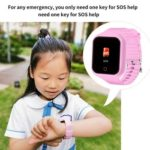 Children Smart Watch Phone IP67 Waterproof GPS SOS Call Smartwatch (Pink)