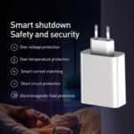 Baseus BSEU907 45W Quick Charging 4.0 3.0 PD 3.0 USB Type-C Charger (White)