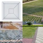 DIY Concrete Pavement Mold Path Walkway Paving Brick Stone Road Cement Mold