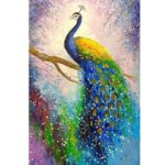 5D DIY Full Drill Diamond Painting Cross Stitch Embroidery Mosaic (Peacock)