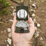 Folding Mini Luminous Compass Outdoor Camping Hiking Geological Dashboard