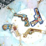 4pcs DIY Diamond Painting Keychain Special Full Drill Toy Ornaments Pendant