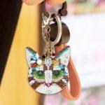 4pcs DIY Diamond Painting Keychain Special-shaped Full Drill Cat Ornament