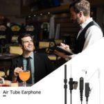 Air Tube Earphone Mic PTT Headset for Motorola CB Radio GP328 GP380 PRO5150