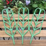 Leaf Shape Garden Trellis for Climbing Potted Plant Support (3pcs Hard)