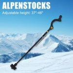 1pc Aluminum Alloy Walking Cane Portable Adjustable Cane Black (Telescopic)