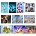 5D DIY Full Drill Diamond Painting Cross Stitch Embroidery Kit (Angel10)