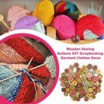 100pcs Cartoon Round Wooden Sewing Buttons 2 Holes DIY Knitting Decor (2)