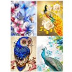 5D DIY Special-shaped Diamond Painting Cross Stitch Kit (YL0004 Peacock)