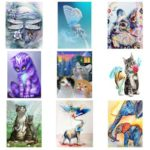 5D DIY Full Drill Diamond Painting Animal Embroidery Mosaic Craft Kits (09)