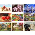 5D DIY Full Drill Diamond Painting Cross Stitch Embroidery Kit (Dog09)