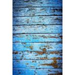 Retro Blue Wooden Board Photography Background Cloth Backdrop (1.5X2.1m)