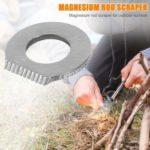 Stainless Steel Outdoor Survival Camping Scraper Flint Equipments (Silver)
