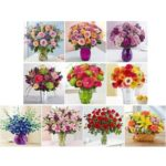 5D DIY Full Drill Diamond Painting Flowers Embroidery Mosaic Kits (hg362)