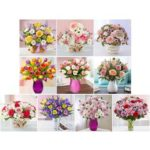 5D DIY Full Drill Diamond Painting Flowers Cross Stitch Mosaic Kits (hg372)
