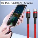 Baseus 2m USB C Cable PD2.0 60W Flash Charge Cord for Type-C Device (Red)