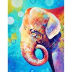 5D DIY Full Drill Diamond Painting Elephant Cross Stitch Embroidery Mosaic