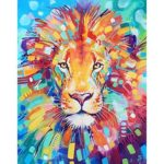 5D DIY Full Drill Diamond Painting Lion Cross Stitch Embroidery Mosaic Kit